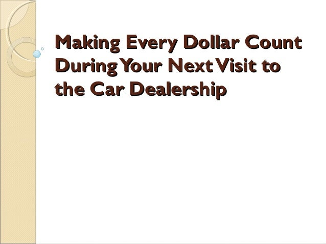 The Dos And Don'ts Of Car Shopping