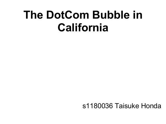 The DotCom Bubble in California s1180036 Taisuke Honda
