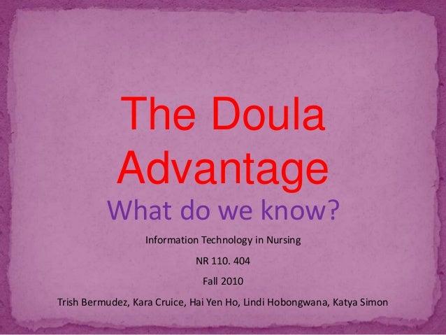 The doula advantage in English