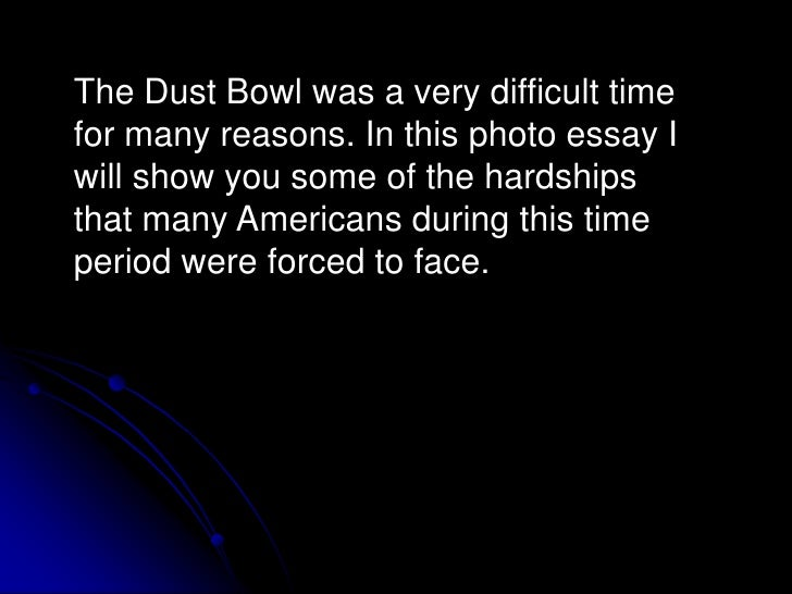 What caused the dust bowl essay outline