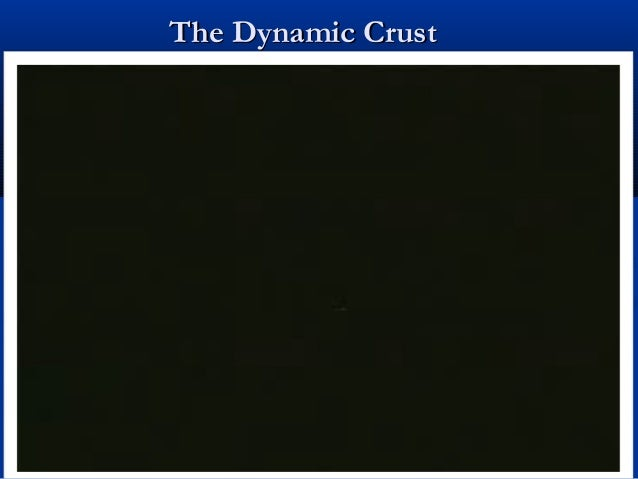 The dynamic crust