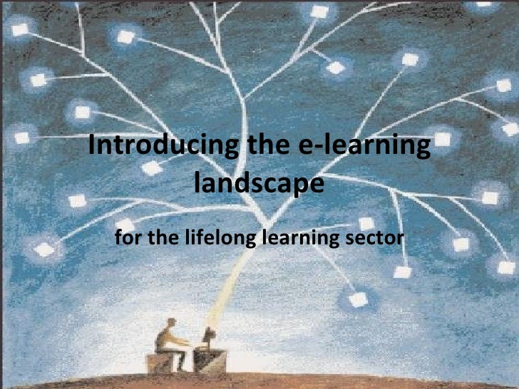 Introducing the e-learning landscape for the lifelong learning sector