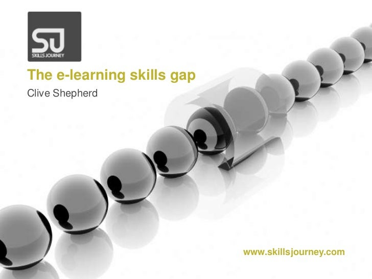 The e-learning skills gap