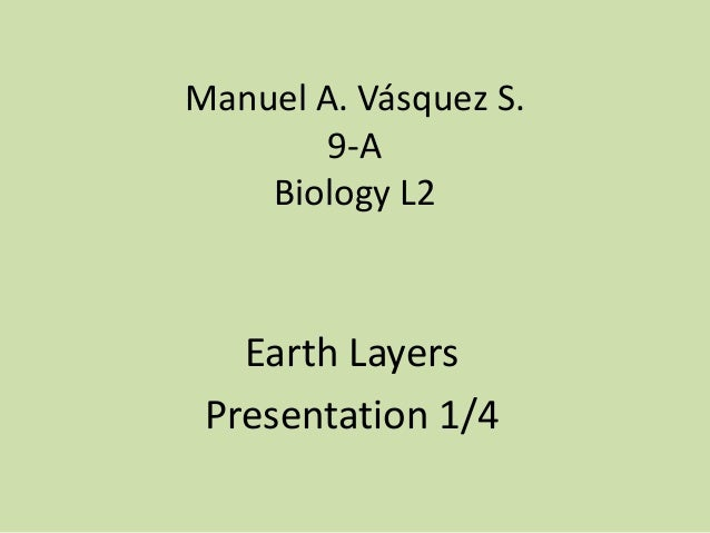 The earth layers