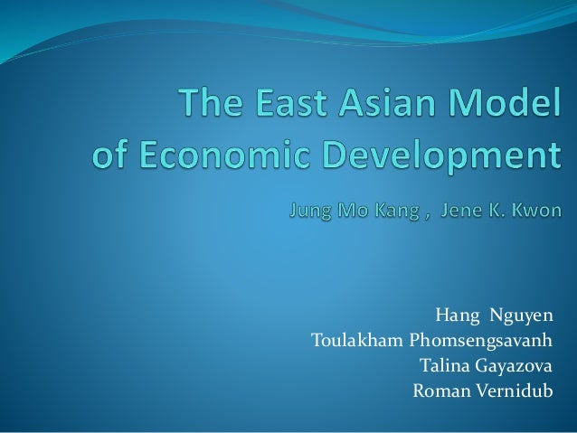 the different models of economic development Its export-led development model and advantage in all economic sectors   through the veils of defunct development models to find a different,.