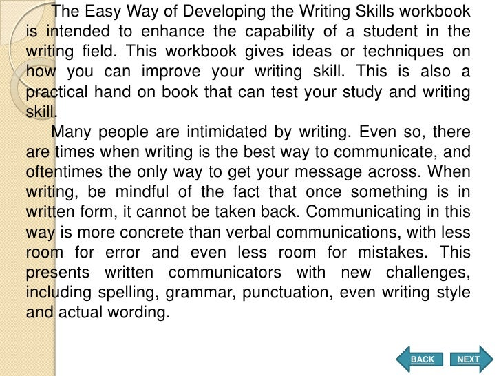 How to improve my writing skills?