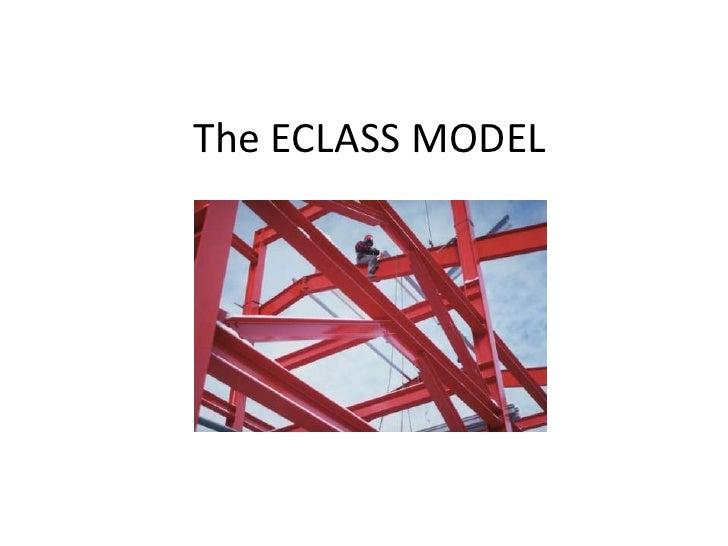 The ECLASS MODEL<br />
