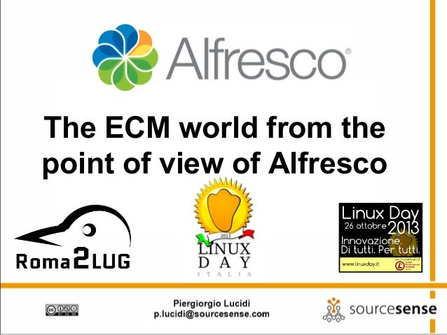 The ECM world from the point of view of Alfresco