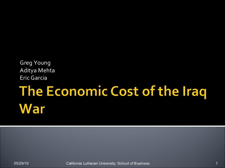 The Economic Cost Of The Iraq War
