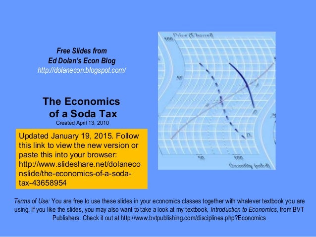 Free Slides from Ed Dolan's Econ Blog http://dolanecon.blogspot.com/ The Economics of a Soda Tax Created April 13, 2010 Te...