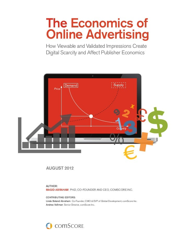 The economics of online advertising  august 2012