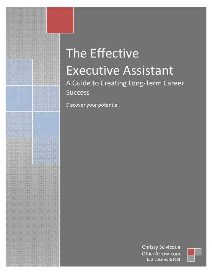 TheEffective        ExecutiveAssistant        AGuidetoCreatingLong‐TermCareer        Success     ...