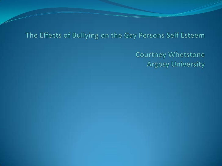 The Effects of Bullying on the Gay Persons SelfEsteem                          AbstractThe research that has been done reg...