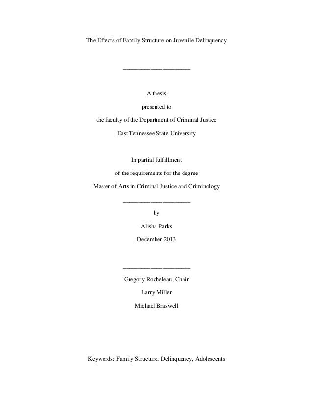thesis on juvenile justice