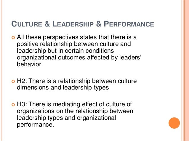 organizational culture and leadership style on Abstract this study aims to find relationship of leadership style of chief  librarians, with organizational culture and employee commitment in university  libraries.