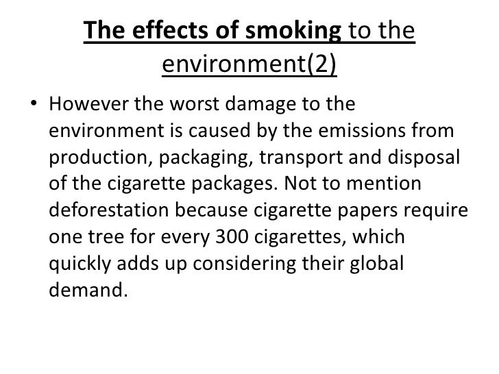 cause and effect of smoking thesis