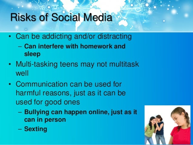 social media harmful Social media is as harmful as alcohol and drugs for millennials although people of all ages use social media, it is more harmful for younger users than it is for.
