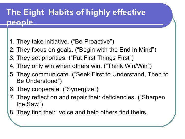 7 habits of highly effective people research paper