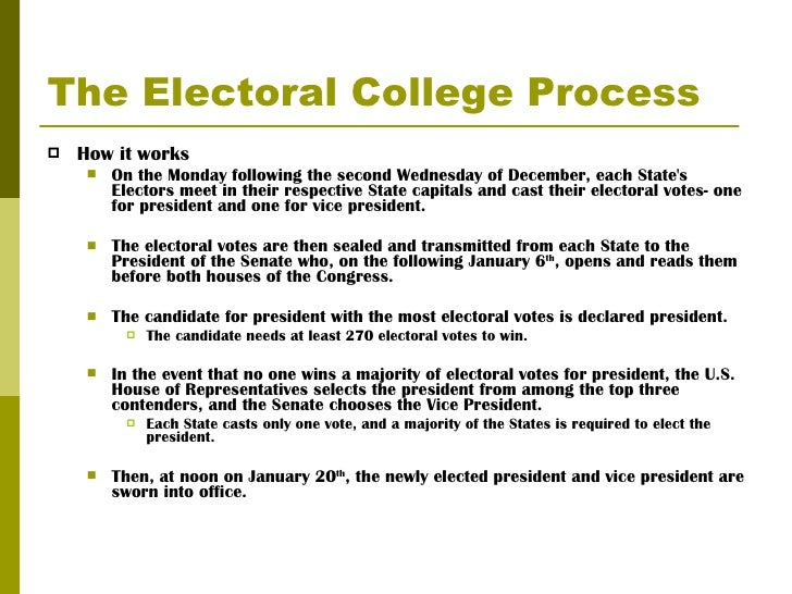 the electoral college essay Electoral college essay is often difficult as students may not know what to outline in the introduction or conclusion taking a look at a sample paper can help students to write interesting essays on electoral college.