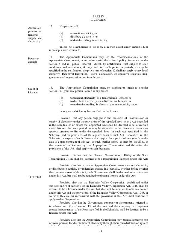 Electricity Act 2003 Section 2