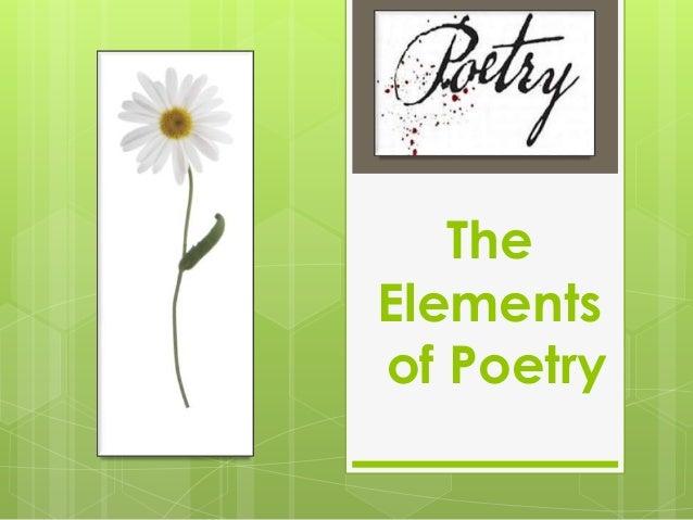 TheElementsof Poetry