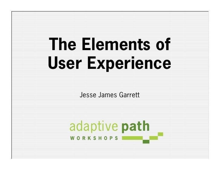 The Elements of User Experience    Jesse James Garrett