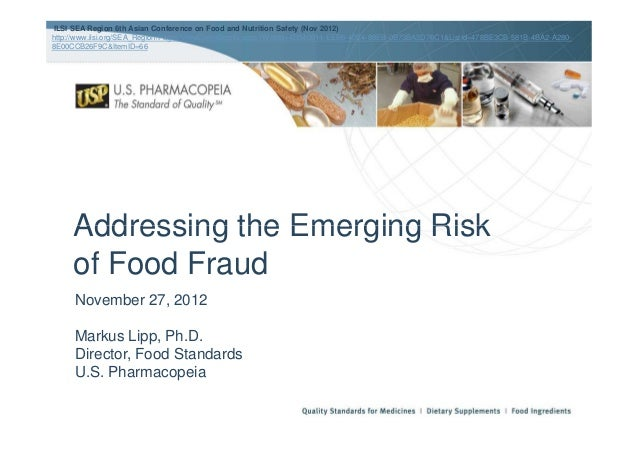 Addressing the Emerging RiskILSI SEA Region 6th Asian Conference on Food and Nutrition Safety (Nov 2012)http://www.ilsi.or...