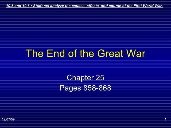 The End of the Great War Chapter 25 Pages 858-868