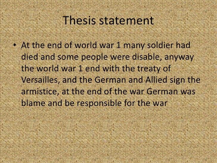 war thesis