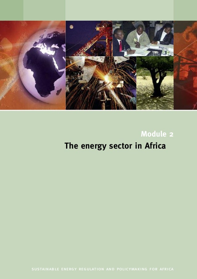 Module 2 The energy sector in Africa sustainable energy regulation and policymaking for africa
