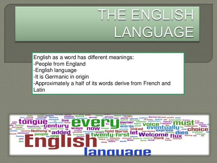 English as a word has different meanings:-People from England-English language-It is Germanic in origin-Approximately a ha...