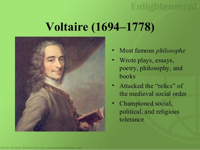 How did Voltaire contribute to the Enlightenment?