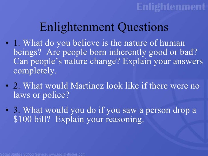 an answer to the question what is enlightenment essay