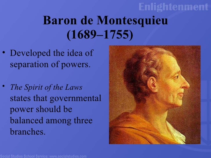 an analysis of montesquieus the spirit of laws This blog will be used throughout the quarter for primary document analysis, reflection  the spirit of the laws - baron de montesquieu author bio:.