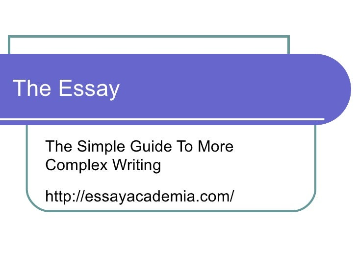 complex essay writing Step 6: write introduction and conclusion introductory and concluding paragraphs function together as the frame around the argument of your essay.