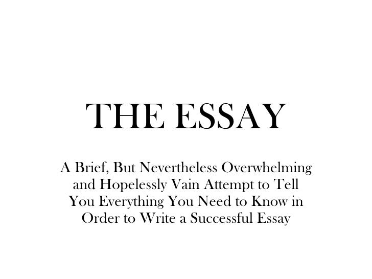 The Essay Sp10