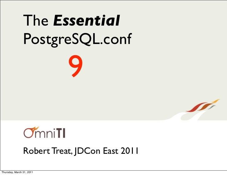 The Essential PostgreSQL.conf