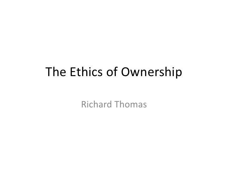 The ethics of ownership 3.1postc