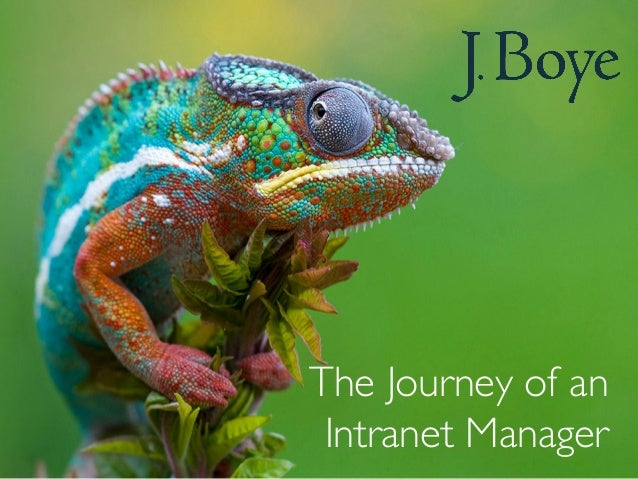 The Journey of an  Intranet Manager