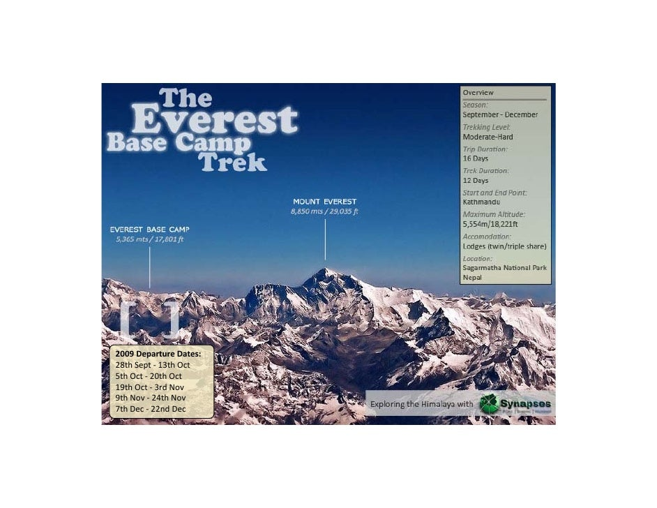 The Everest Base Camp Trek l Travel and Discover Nepal