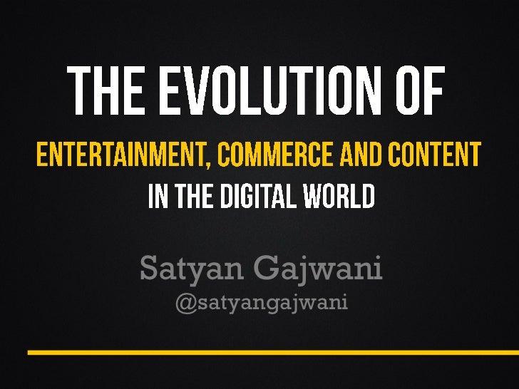 Satyan Gajwani @satyangajwani