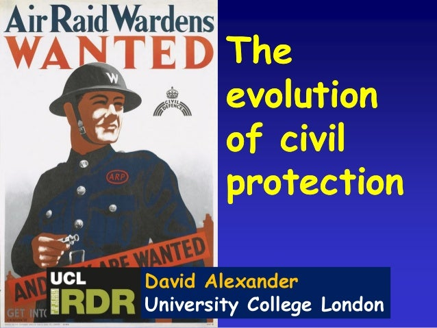 The evolution of civil protection