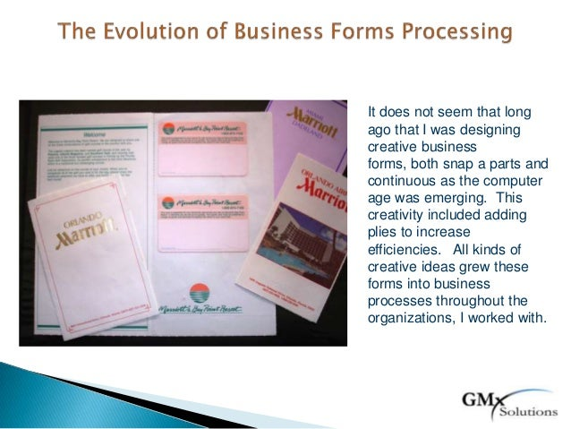 It does not seem that longago that I was designingcreative businessforms, both snap a parts andcontinuous as the computera...