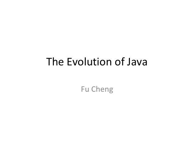 The Evolution of Java