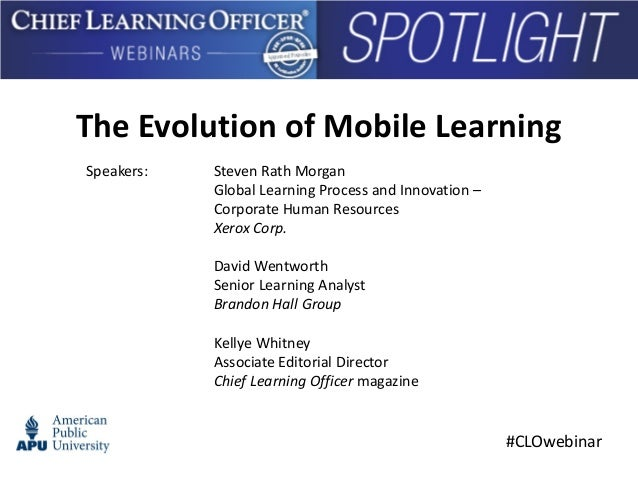 The Evolution of Mobile Learning