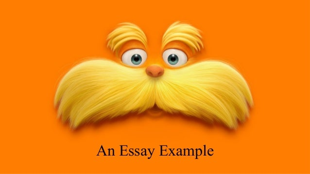 Name for my Lorax essay?