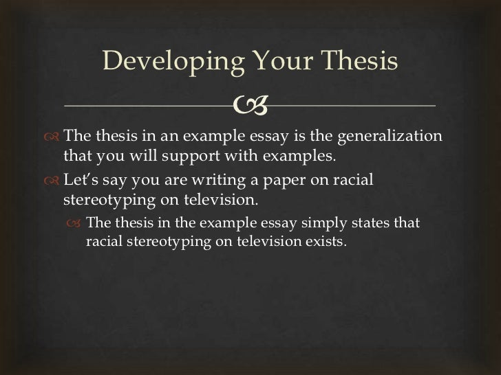 essay supporting generalization By kim seong-kon, professor of english literature we often make hasty generalizations and create unfounded stereotypes most habitually, we tend to stereotype the west.
