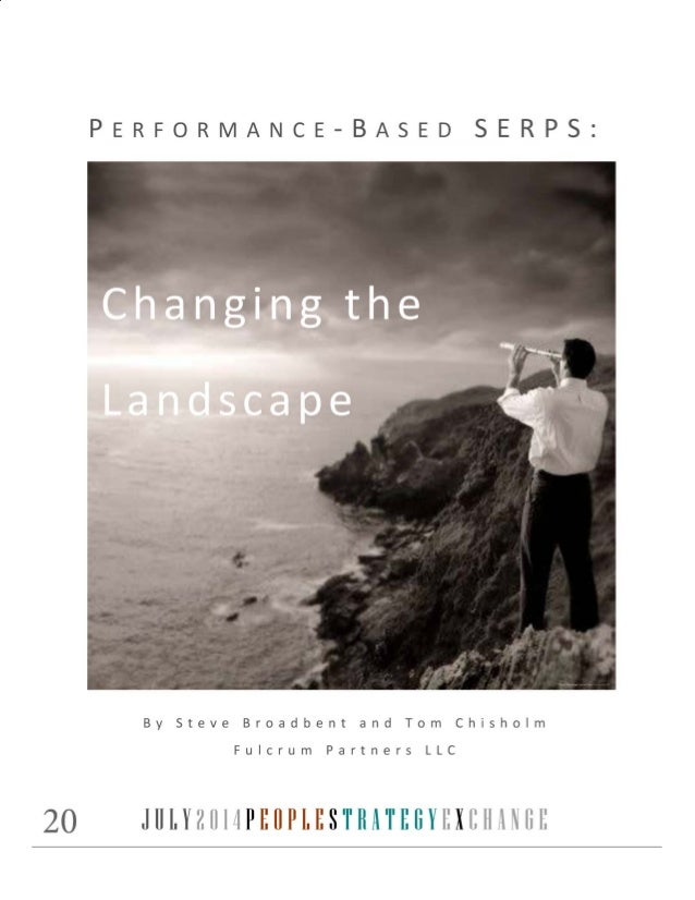 Performance-Based SERPs: Changing the Landscape | The Exchange for People Strategy July 2014