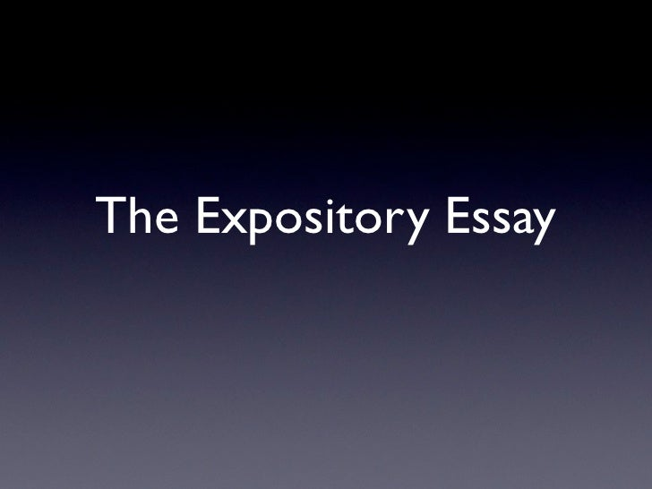 College Essays, College Application Essays - Expository essay meaning ...