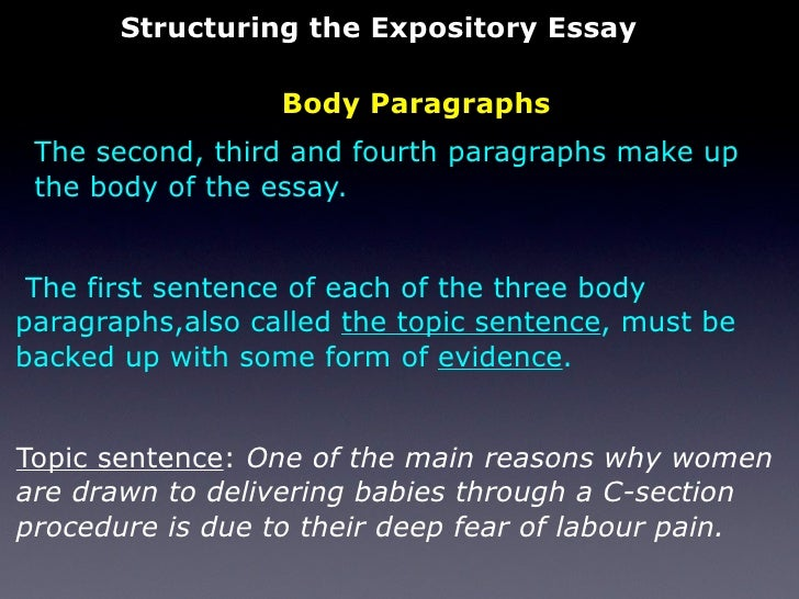 How to write a two paragraph expository essay?